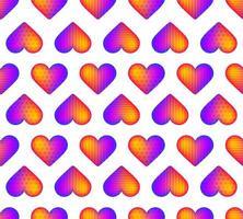 modello di cuore realistico arcobaleno senza soluzione di continuità
