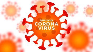 banner di cellule di coronavirus vettoriale 2019-ncov