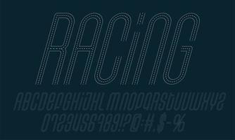 set di alfabeto da corsa su strada vettore