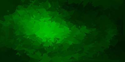 design poligono gradiente vettoriale verde scuro.