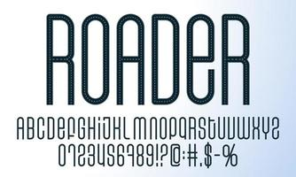 set di alfabeto di strada vettore