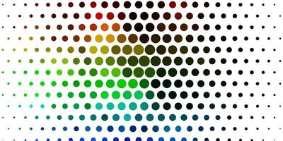 sfondo vettoriale multicolore chiaro con punti.