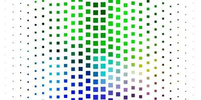 modello di vettore multicolore chiaro in rettangoli.