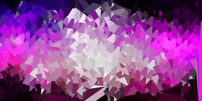 carta da parati a mosaico triangolo vettoriale viola scuro, rosa.