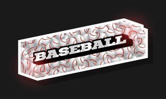 moderna tipografia professionale baseball sport logo in stile retrò vettore