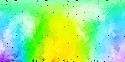 sfondo poligonale vettoriale multicolore chiaro.