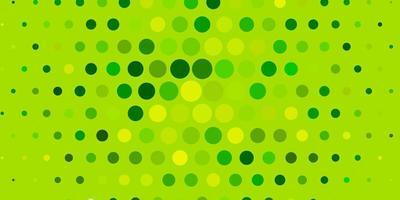 layout vettoriale verde chiaro, giallo con forme circolari.