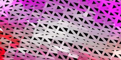 disegno poligonale geometrico di vettore rosa chiaro, giallo.