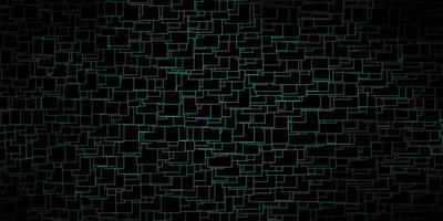 layout vettoriale verde scuro con linee, rettangoli.