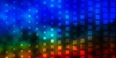 layout vettoriale multicolore scuro con linee, rettangoli.