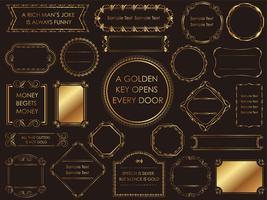 Una serie di cornici vintage oro assortiti.