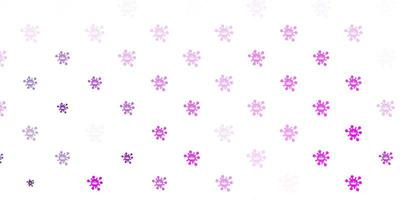 sfondo vettoriale rosa chiaro con simboli di virus