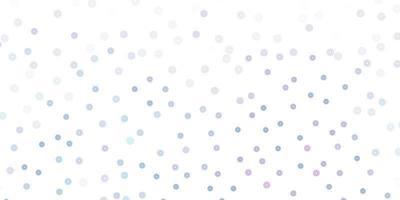 modello doodle vettoriale rosa chiaro, blu con fiori.
