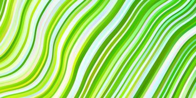 modello vettoriale verde chiaro, giallo con curve.