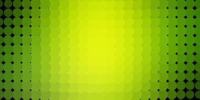 sfondo vettoriale verde chiaro, giallo con cerchi.