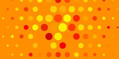 sfondo vettoriale giallo chiaro con bolle.