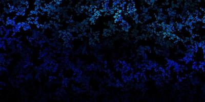 modello vettoriale blu scuro con forme astratte.