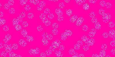 opera d'arte naturale vettoriale viola chiaro, rosa con fiori.