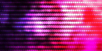modello vettoriale viola scuro, rosa con cerchi.