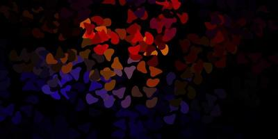 sfondo vettoriale multicolore scuro con forme casuali.