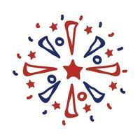 icona di stile linea splash di fuochi d'artificio