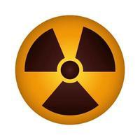 icona del segnale di attenzione nucleare vettore