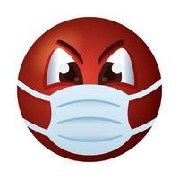 emoji che indossa stile sfumato maschera medica