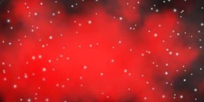 modello vettoriale rosso scuro con stelle astratte.