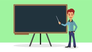 Illustrazione piatta insegnante vettore