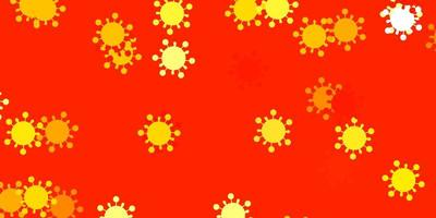 trama vettoriale arancione chiaro con simboli di malattia