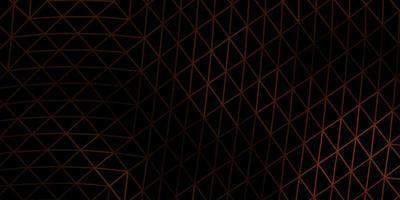 design poligono sfumato vettoriale arancione scuro.