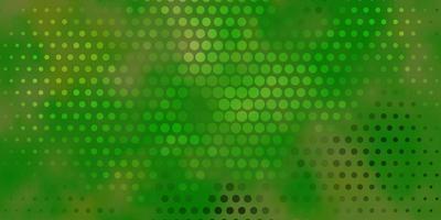 sfondo vettoriale verde chiaro, giallo con punti.