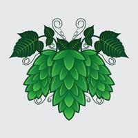 Illustrazione di vettore della pianta del luppolo