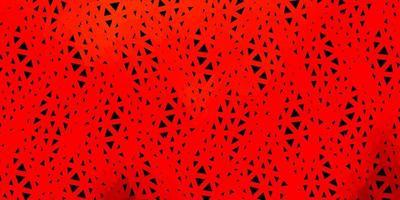 disegno a mosaico triangolo vettoriale rosso scuro.