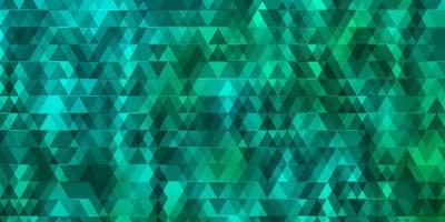 sfondo vettoriale verde chiaro con linee, triangoli.