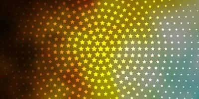 modello vettoriale azzurro, giallo con stelle al neon.