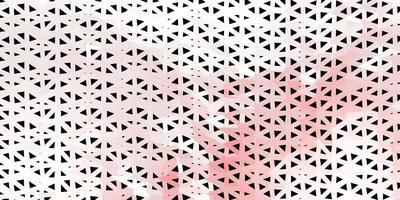 modello di mosaico triangolo vettoriale rosso chiaro.