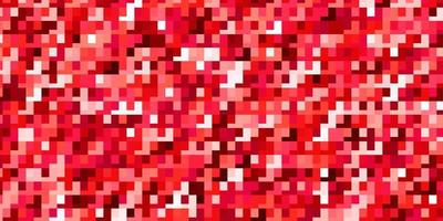 sfondo vettoriale rosso chiaro con rettangoli.