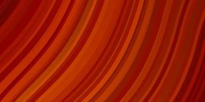 modello vettoriale arancione chiaro con linee ironiche.