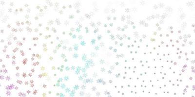 sfondo astratto vettoriale multicolore chiaro con foglie.