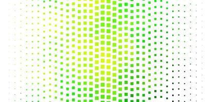 trama vettoriale verde chiaro, giallo in stile rettangolare.