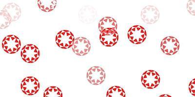 modello vettoriale rosso chiaro con cerchi.