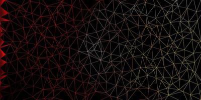 sfondo triangolo astratto vettoriale rosso chiaro, giallo.
