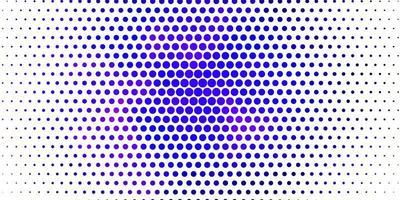 sfondo vettoriale viola chiaro con bolle.