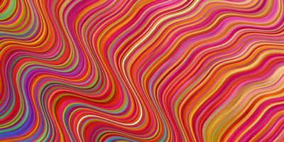 sfondo vettoriale multicolore chiaro con curve.