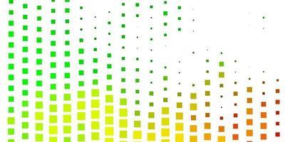 sfondo vettoriale verde chiaro, giallo con rettangoli.