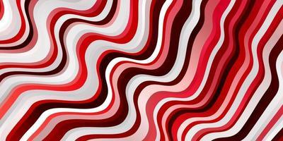 trama vettoriale rosso chiaro con linee ironiche.