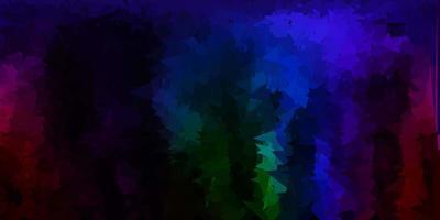 fondo del triangolo astratto di vettore multicolore scuro.