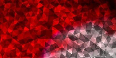 sfondo vettoriale rosso chiaro con stile poligonale.