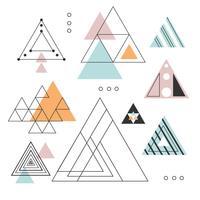 Collezione di triangoli astratti vettoriale